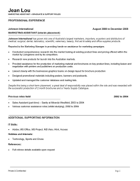 assistant resume marketing assistant resume