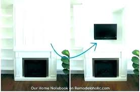 hide cords on wall mount wires lovely how to mounted fireplace creative ways hiding electrical p