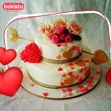 Pictures Of Hearts And Flowers Hearts And Flowers Valentines Day Cake