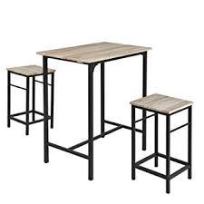 Sobuy Ogt10 N Set De 1 Table 2 Tabourets Ensemble Table De Bar