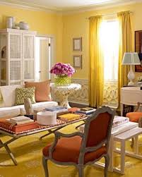 Warm Colored Living Rooms Living Room With Yellow Warm Colours Walls And Curtains And Area