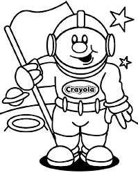 Small Picture astronaut coloring page from Crayola can cut out face so kids can