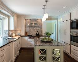 Corner luxury kitchen with blanco tulum granite counters