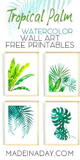 palm leaf wall art looking for tropical watercolor you home decor fronds banana wallet l palm leaf wall art leaves digital print poster metal