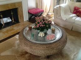 round seagrass coffee table fill your furniture at your living room looking beautiful combined with white sofa bed seagrass table adding glass on top