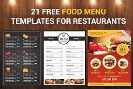 Restaurant Menu Template 21 Free Food Menu Templates For Restaurants Designyep