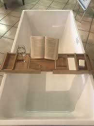 bathtub caddy tray expandable bamboo bath tub anizer with tablet