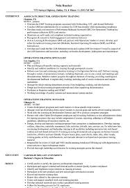 Operations Training Resume Samples | Velvet Jobs