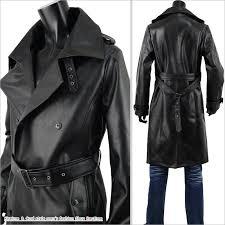 leather coat men long coat coat leather trench coat fake leather s280830 01