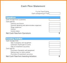Cash Flow Statement Template Uk Cash Flow Template Excel Skincense Co