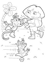 Dora Printable Coloring Pages Online Free Printable Colouring The