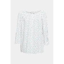 Carmenblouse With Print Off White