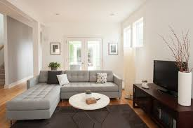 dazzling tufted sectional in living room contemporary with