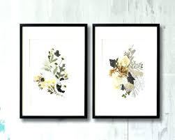 fl wall art sets fl framed wall art set of 2 framed prints plant art contemporary fl wall art sets