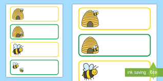 Busy Bee Editable Labels Teacher Made