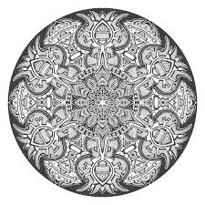 Small Picture Mandala Coloring Pages Advanced Level Printable 24295