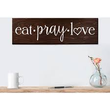 Word Signs Wall Decor wall decor sayings signs big inspiring word smooth painted long 25