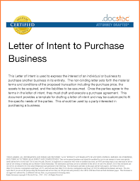 Business Purchase Proposal Template Best Letter Intent Purchase ...