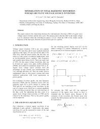 Harmonic Distortion Minimization Of Total Harmonic Distortion For Square Wave Voltage