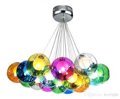 colored glass chandelier colorful glass chandelier modern hand blown glass bubble colored glass chandelier crystals