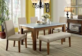 contemporary dining room sets with bench. Beautiful Dining Soft Beige Upholstered Dining Bench With Other Furniture Sets In Contemporary Dining Room Sets With Bench