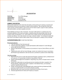 templates front desk executive job profile new manager description in template of
