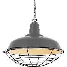 grey industrial ceiling pendant light