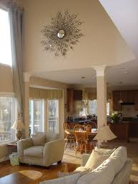 Decorating High Ceiling Walls Large Wall Decorating Ideas For Living Room 25 Best Ideas About