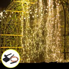 Wedding Tree Lights Solar Powered 8 Modes 100 Led Christmas Tree Fairy String Wedding Home Party Light Copper Wire Dc2v