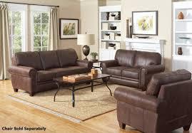 Microfiber Living Room Set Coaster Bentley 504201 504202 Brown Fabric Sofa And Loveseat Set