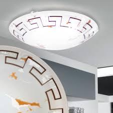 12 Watt Led Retro Wand Decken Lampe Glas Motiv Antik Schlafzimmer