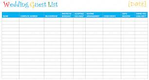 Wedding Guest List Template Excel Download Wedding Planning Use A Wedding Guest List Template
