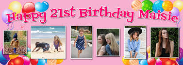 Banner Birthday Balloon Background Birthday Banner With Up To 6 Photos
