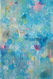 daru jung hyang kim abstract painting blue flutter 1 pastel color abstract contemporary nature