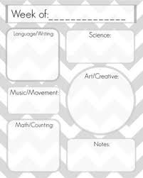 unit organizer routine template 7 best preschool lesson plan template images learning preschool