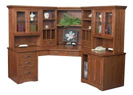 corner office desk hutch. Amish Large Corner Computer Desk Hutch Bookcase Home Office Solid Wood Furniture C