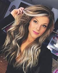 Coupe Cheveux Mi Long Femme Beau Coiffure Femme Meche Blonde