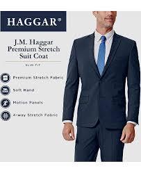 J M Mens Slim Fit 4 Way Stretch Suit Separates