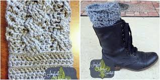 Boot Cuff Pattern Magnificent Pattern Roundup 48 Fast Free Crochet Boot Cuff Patterns