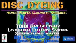 Custom Design Disc Golf Discs Disc Golf Dyeing Layered Lotion Swirl Stecniling With Db Dyes