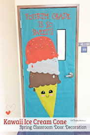 spring classroom door decorations. Make This Easy And Sweet Ice Cream Cone To Decorate Your Classroom For Spring! { Spring Door Decorations R