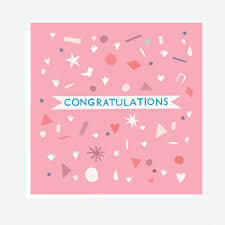 Pink Congratulations Card