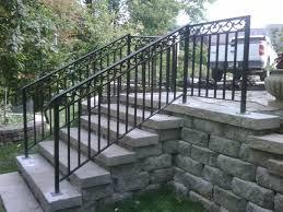 image of exterior stair railing aluminum