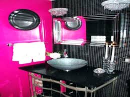 pink and black bathroom hot accessories bath rugs bathro
