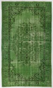 Green overdyed rug Grey Image Unique Rug Store Green Overdyed Rug 58 94 175 285 Etsy