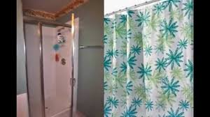 shower stall curved curtain rod