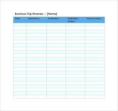 Itinerary Sheet Trip Sheet Template Expense Report Data Download By Oil