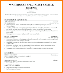 Warehouse Worker Resume Download Example Of Here Are Templates