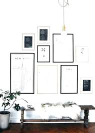 gallery wall frame set post perfect 9 piece multi size black