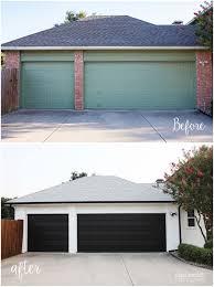 black garage door paint garage door ideas
